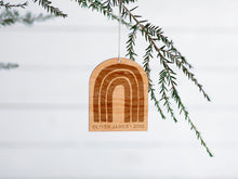 Load image into Gallery viewer, Personalized Wooden Rainbow Christmas Ornament