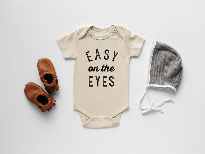 Easy On The Eyes Organic Baby Bodysuit