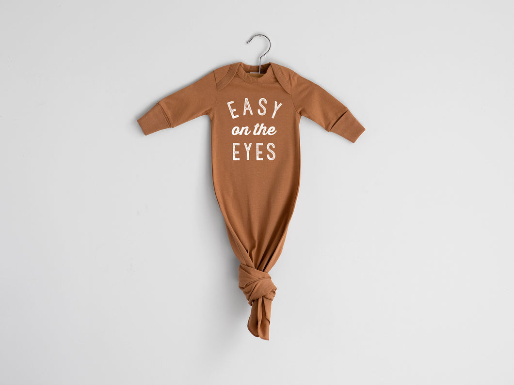 Easy On The Eyes Organic Knotted Baby Gown