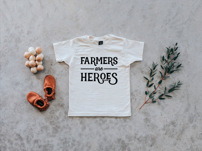 Farmers Are Heroes Organic Baby & Kids Tee