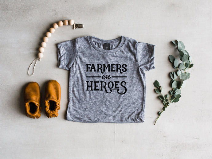 Farmers Are Heroes Baby & Kids Tee