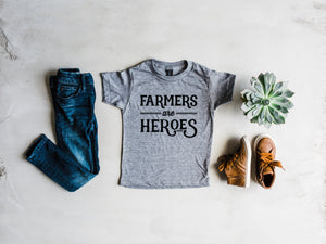 Farmers Are Heroes Kids Tee
