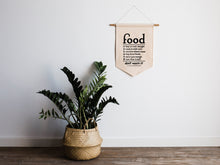 Load image into Gallery viewer, Vintage Food Rules Canvas Banner