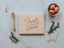 Load image into Gallery viewer, Fresh and Local Engraved Wooden Cutting Board