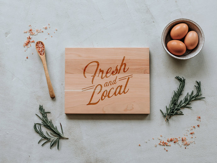 Fresh and Local Engraved Wooden Cutting Board
