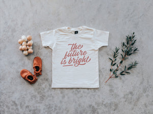 The Future is Bright Organic Baby & Kids Tee