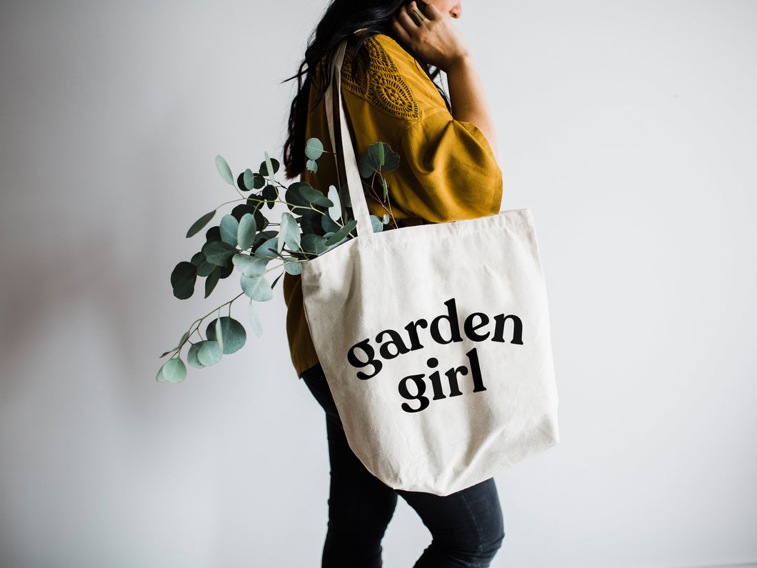 Garden Girl Canvas Tote Bag