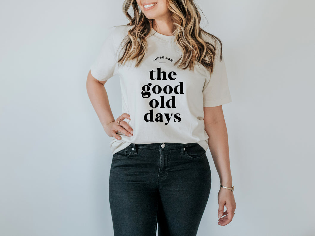 Good Old Days Organic Adult Tee
