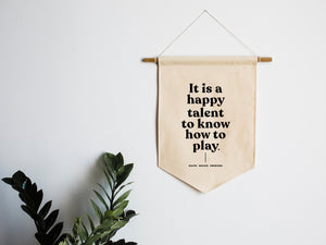 A Happy Talent Canvas Banner