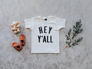 Hey Y'All Organic Kids Tee