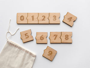 Wooden Number Puzzle • Children's Counting Puzzle