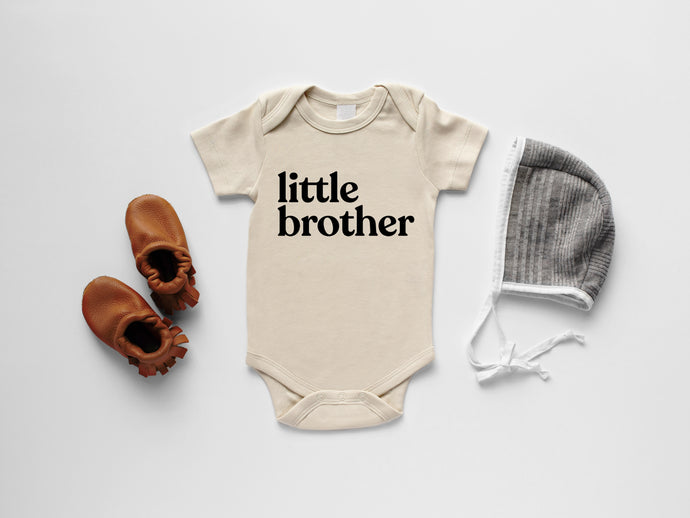 Little Brother Organic Baby Bodysuit
