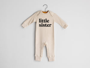 Little Sister Full Body Organic Baby Romper