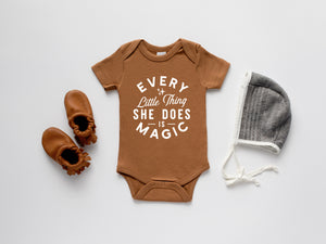 Every Little Thing She Does Is Magic Organic Baby Bodysuit