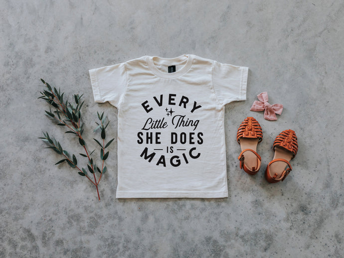 Every Little Thing She Does Is Magic Organic Kids Tee