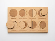 Load image into Gallery viewer, Wooden Moon Phase Puzzle