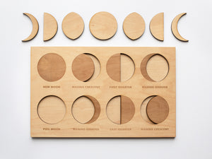 Wooden Moon Phase Puzzle