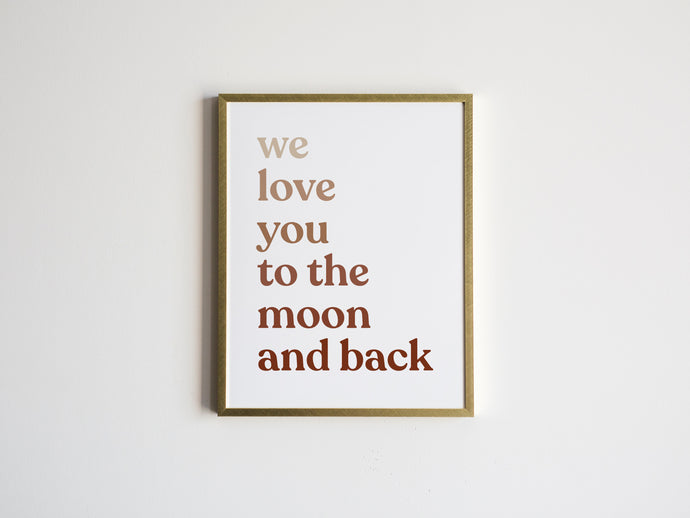 To The Moon And Back Ombré Print