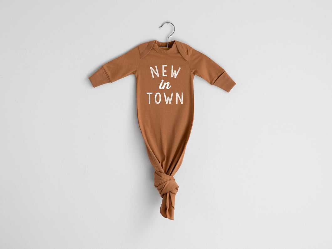 New In Town Organic Knotted Baby Gown