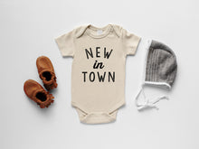 Load image into Gallery viewer, New In Town Organic Baby Bodysuit