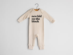 New Kid On The Block Full Body Organic Baby Romper