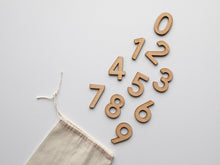Load image into Gallery viewer, Wooden Number Set • Wood Numerals & Math Symbols in Maple