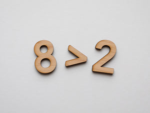 Wooden Number Set • Wood Numerals & Math Symbols in Maple