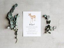 Load image into Gallery viewer, Oh Deer Baby Shower Invitation Printable