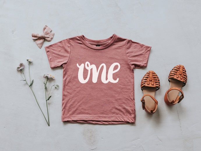 One First Birthday Baby Tee