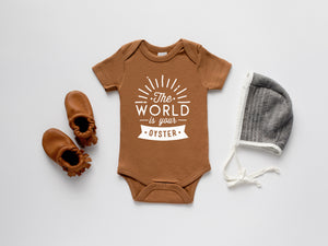 The World Is Your Oyster Organic Baby Bodysuit