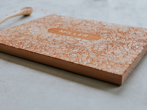 Peony Badge Handmade Wooden Cutting Board