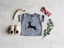Load image into Gallery viewer, Rudolph The Red Nosed Reindeer Christmas Baby & Kids Tee