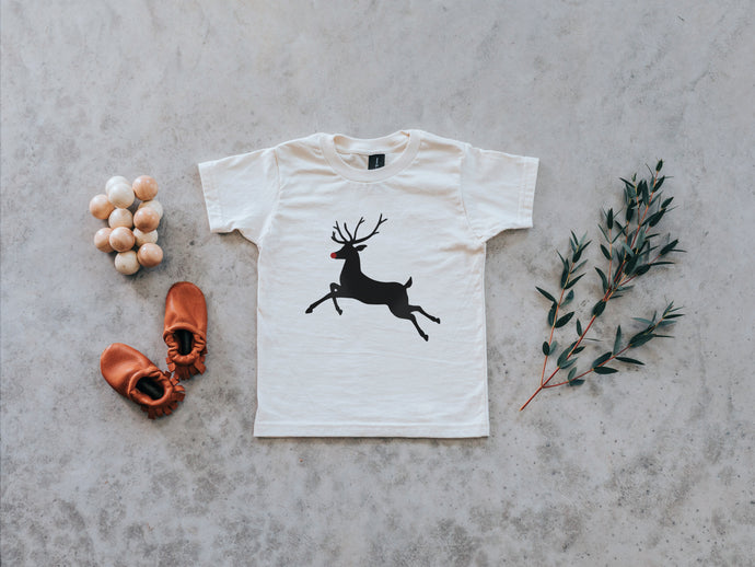 Rudolph The Red Nosed Reindeer Organic Baby & Kids Tee