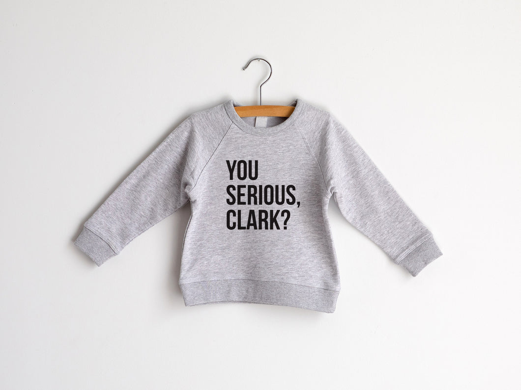 You Serious Clark Organic Kids Pullover