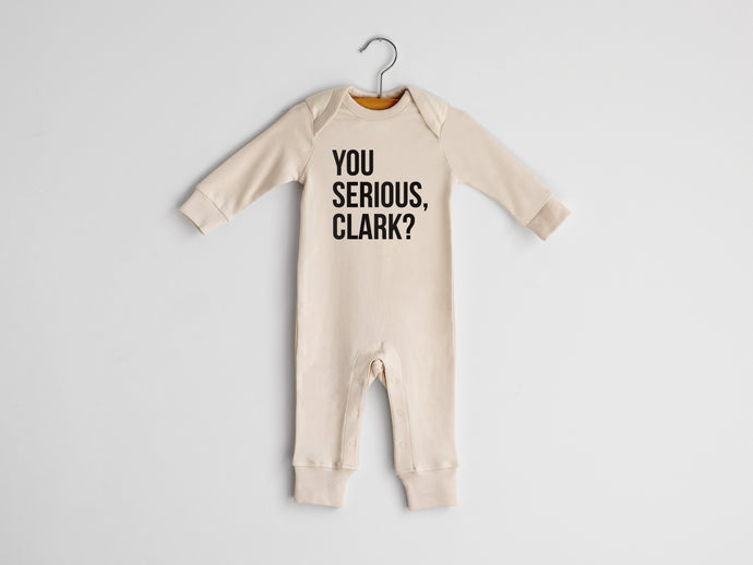 You Serious Clark Full Body Organic Baby Romper
