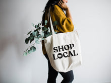 Load image into Gallery viewer, Shop Local Canvas Tote Bag