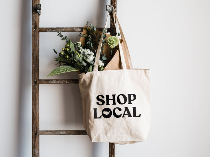 Shop Local Canvas Tote Bag