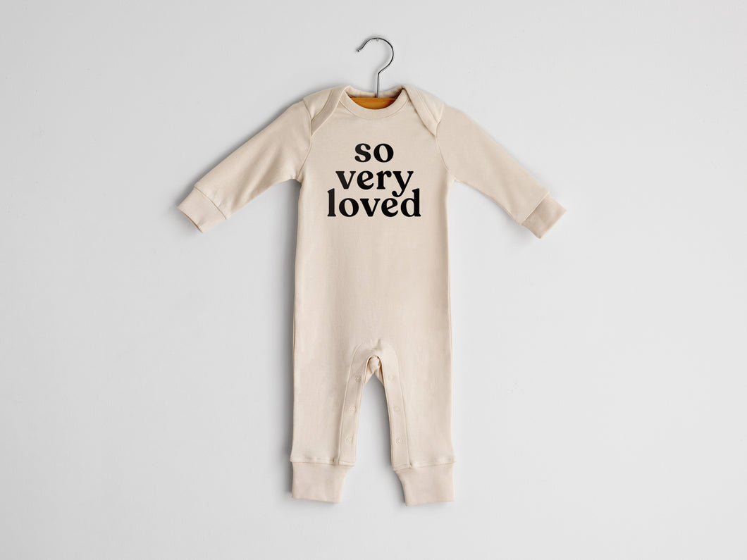 So Very Loved Full Body Organic Baby Romper