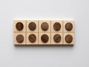 Wooden Ten Frame Board with Counting Pieces