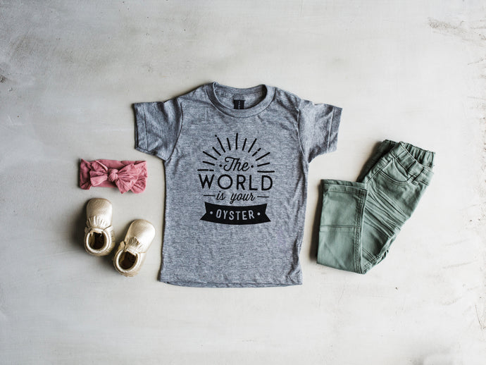 The World Is Your Oyster Kids Tee