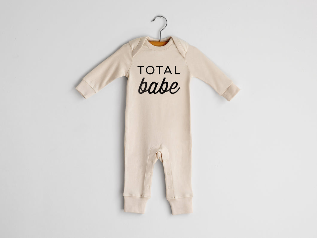 Total Babe Full Body Organic Baby Romper