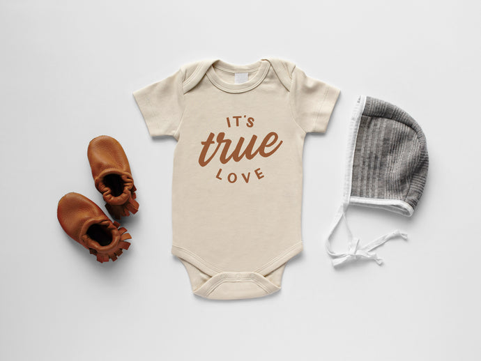 It's True Love Organic Baby Bodysuit