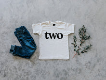 Load image into Gallery viewer, Two Modern Birthday Shirt Organic Kids Tee