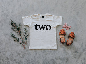 Two Modern Birthday Shirt Organic Kids Tee