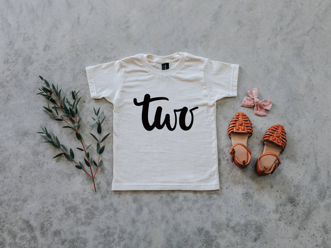 TWO Birthday Shirt Organic Kids Tee