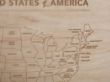 Load image into Gallery viewer, Wooden Map of the United States of America