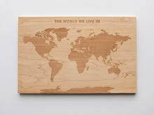 Load image into Gallery viewer, Wooden World Map & Display Stand