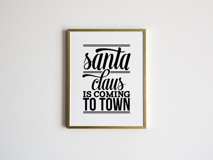 Santa Claus Is Coming Christmas Lyrics Print