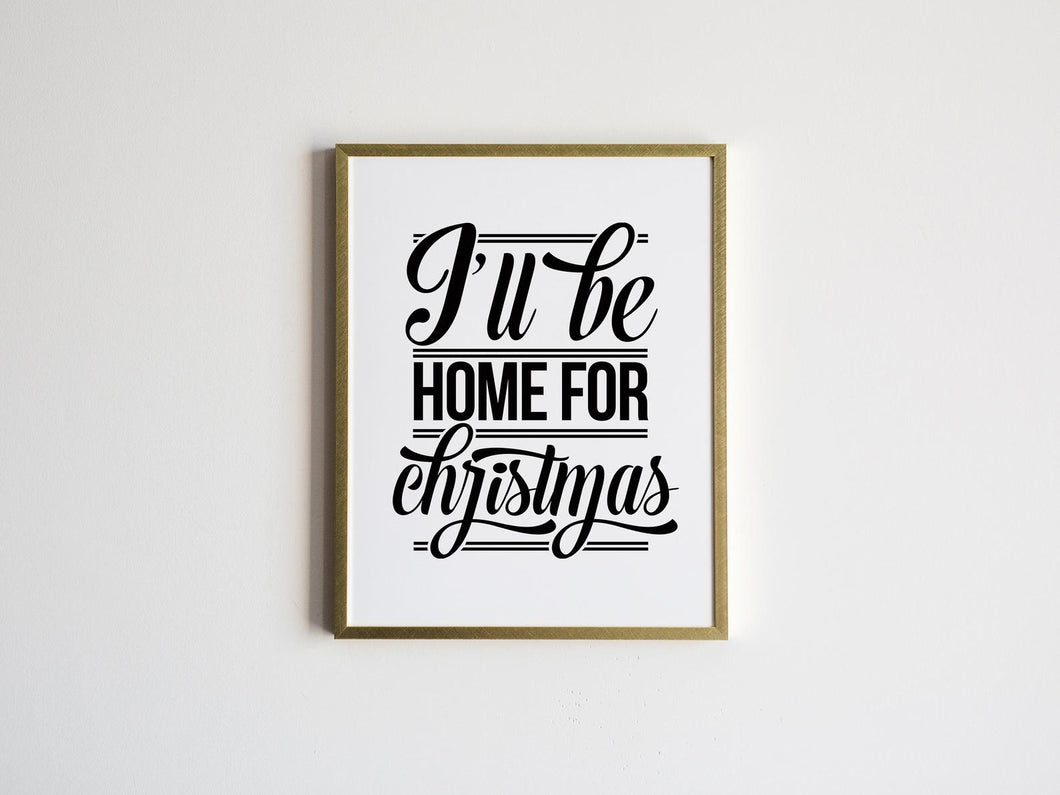 I'll Be Home For Christmas Lyrics Print