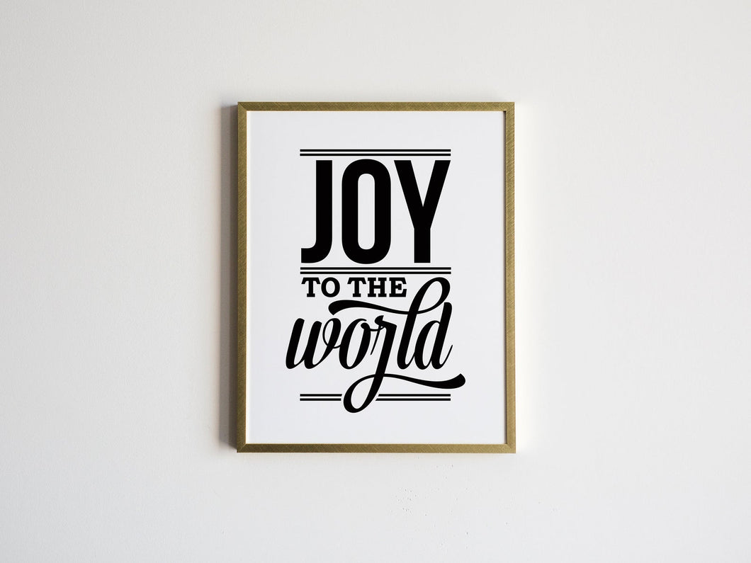 Joy To The World Lyrics Christmas Print